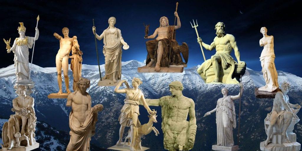 Αποτέλεσμα εικόνας για Τα ονόματα των Αθανάτων του Ολύμπου έχουν συμβολικές σημασίες.