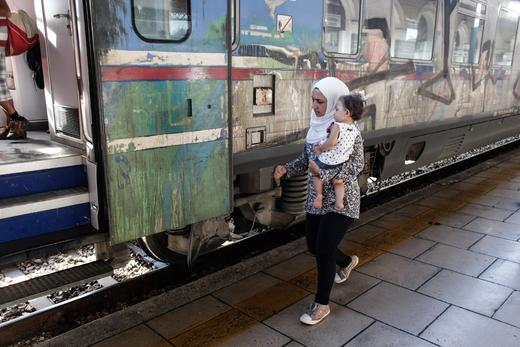 Πρόσφυγες στο Σταθμό Λαρίσης
